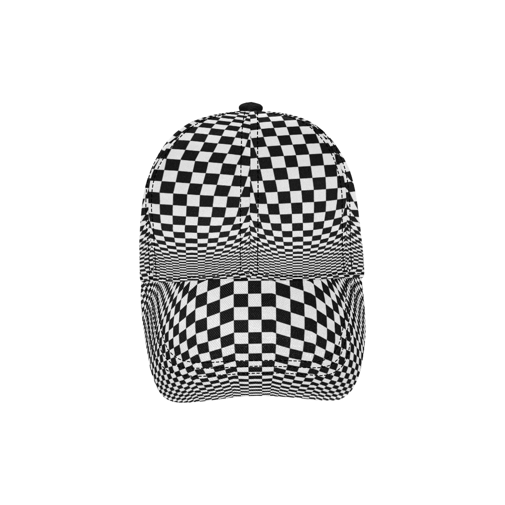 Optical Illusion Checkers All Over Print Dad Cap C (7-Pieces Customization)