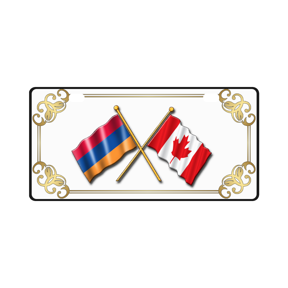 Armenian & Canadian Flag License Plate