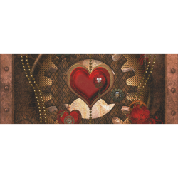 """Steampunk, awesome herats with clocks and gears Gift Wrapping Paper 58""""x 23"""" (1 Roll)"""