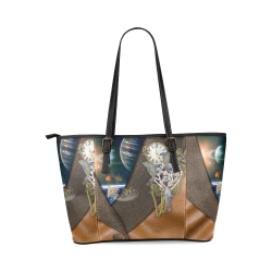 our dimension of Time Leather Tote Bag/Large (Model 1640)