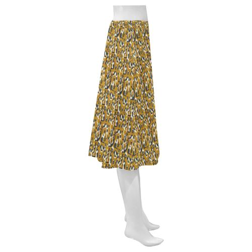 Graphic illusion Mnemosyne Women's Crepe Skirt (Model D16)