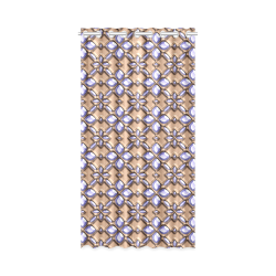 """Blue glass pattern in brown background. New Window Curtain 50"""" x 96""""(One Piece)"""