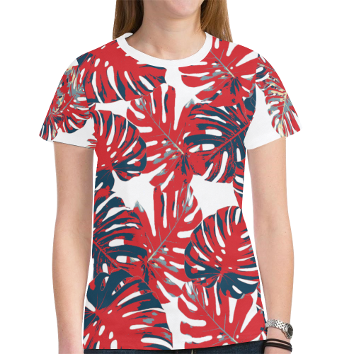 cheeseplant1 New All Over Print T-shirt for Women (Model T45)