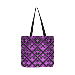 Hmong Hill Tribe Purple Diamond Pattern Reusable Shopping Bag Model 1660 (Two sides)