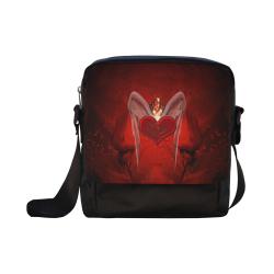 Heart with wings Crossbody Nylon Bags (Model 1633)