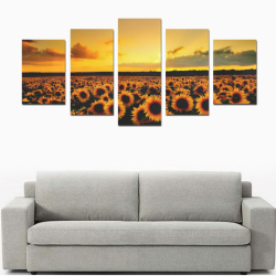 Sunflower Lover Canvas Print Sets D (No Frame)