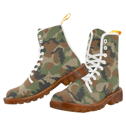 woodland camouflage pattern Martin Boots For Women Model 1203H