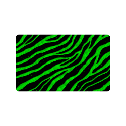 "Ripped SpaceTime Stripes - Green Doormat 30""x18"""