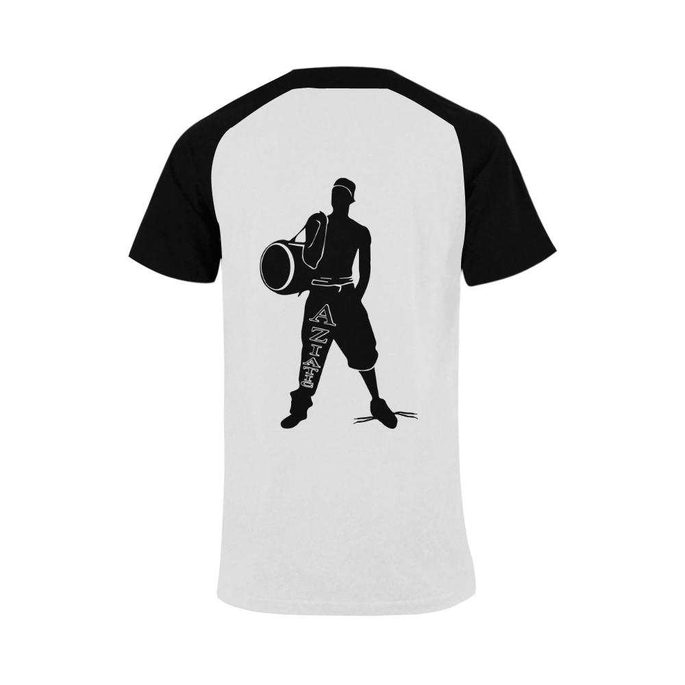 Aziatic Black & White Men's Raglan T-shirt (USA Size) (Model T11)