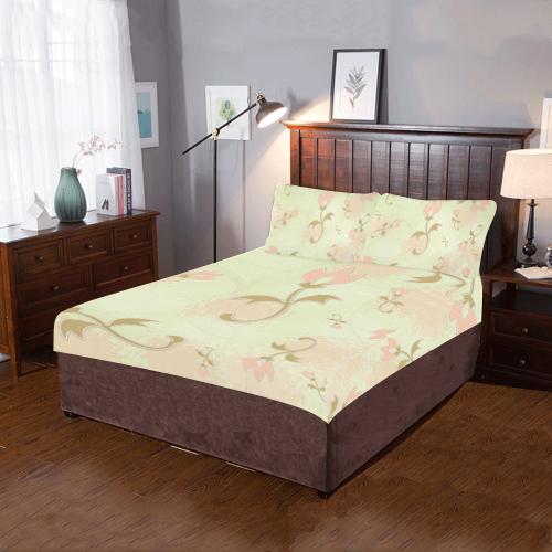 Palm Springs Floral 3-Piece Bedding Set
