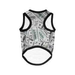 Cash Money / Hundred Dollar Bills All Over Print Pet Tank Top