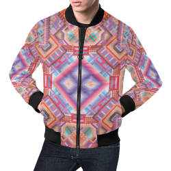 Researcher All Over Print Bomber Jacket for Men (Model H19)