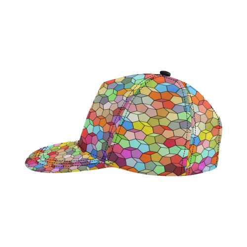 Colorful Polygon Pattern All Over Print Snapback Hat D