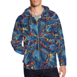 Hot Stone by Artdream All Over Print Full Zip Hoodie for Men (Model H14)