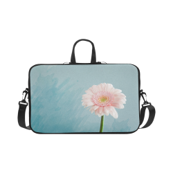 Gerbera Daisy - Pink Flower on Watercolor Blue Macbook Pro 17""