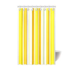 "Sunshine Yellow Stripes Shower Curtain 48""x72"""
