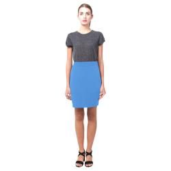 Light Blue Pencil Skirt (solid color) Nemesis Skirt (Model D02)