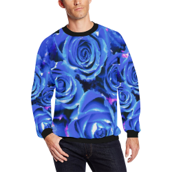 roses are blue All Over Print Crewneck Sweatshirt for Men (Model H18)