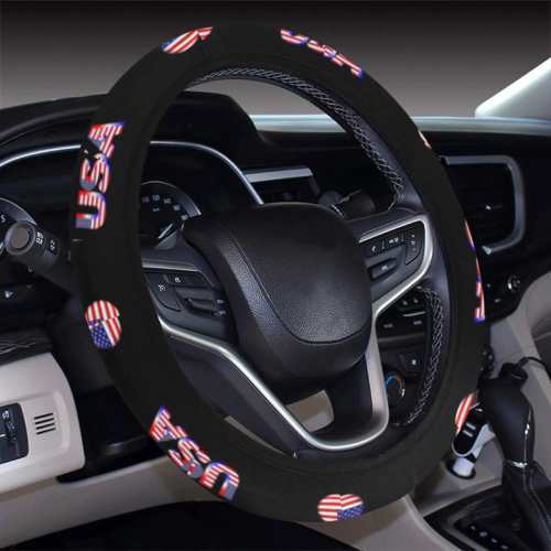 USA Steering Wheel Cover with Elastic Edge
