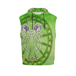 gemini green All Over Print Sleeveless Hoodie for Men (Model H15)