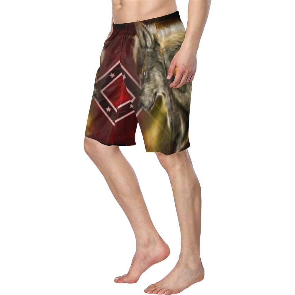 rebel wolf Men's Swim Trunk/Large Size (Model L21)