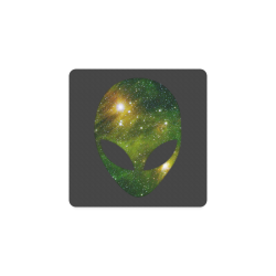 Cosmic Alien - Galaxy - Stars Square Coaster