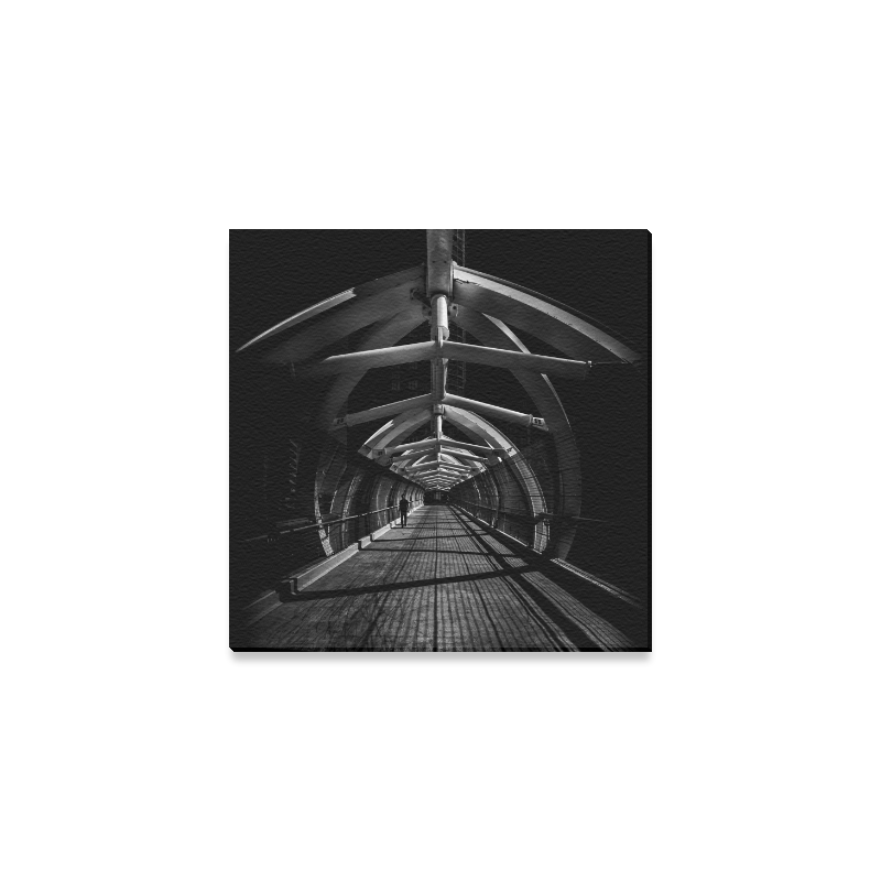 """Puente de Luz Pedestrian Bridge No 1 Canvas Print 6""""x6"""""""