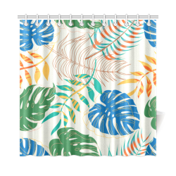 """Cool Colorful Summer Tropical Shower Curtain 72""""x72"""""""