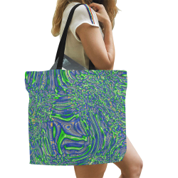 70s chic 2 All Over Print Canvas Tote Bag/Large (Model 1699)