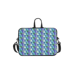 Triangle Pattern - Blue Violet Teal Green Laptop Handbags 11""
