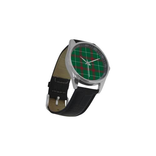 Welsh National Tartan Men's Casual Leather Strap Watch(Model 211)