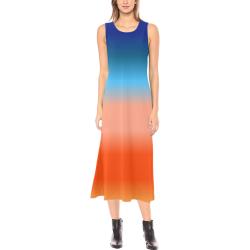 Good Morning Sunrise Gradient Phaedra Sleeveless Open Fork Long Dress (Model D08)