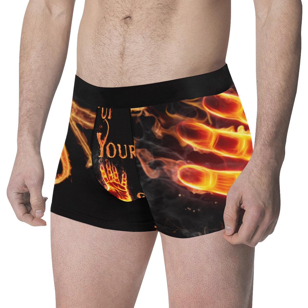 Fire Hand Men's All Over Print Boxer Briefs (Model L34)