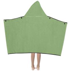 color asparagus Kids' Hooded Bath Towels