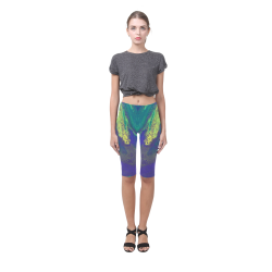 Love Mardi Gras Hestia Cropped Leggings (Model L03)