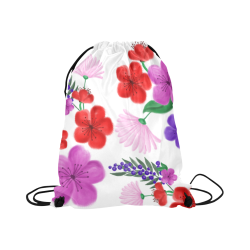 "BUNCH OF FLOWERS Large Drawstring Bag Model 1604 (Twin Sides)  16.5""(W) * 19.3""(H)"