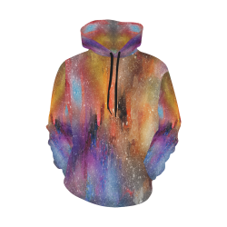 Grungy Abstract Hoodie All Over Print Hoodie for Men (USA Size) (Model H13)