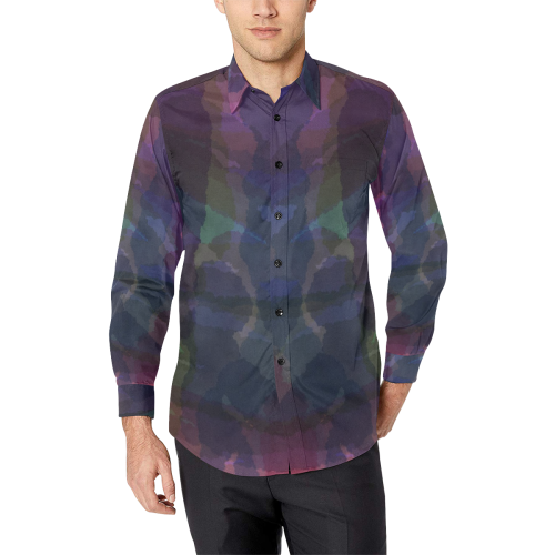 CAMOUFLAGE WATERCOLOR Men's All Over Print Casual Dress Shirt (Model T61)