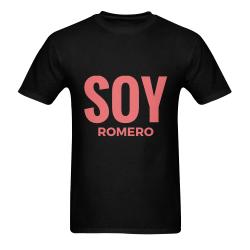 CAMISETA DE HOMBRE NEGRA SOY ROMERO 1 Men's T-Shirt in USA Size (Two Sides Printing)