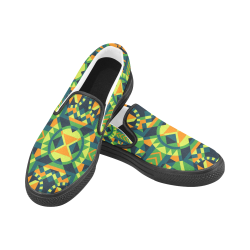 Modern Geometric Pattern Slip-on Canvas Shoes for Men/Large Size (Model 019)