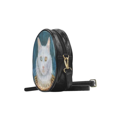 Renaissance Cat Round Sling Bag (Model 1647)