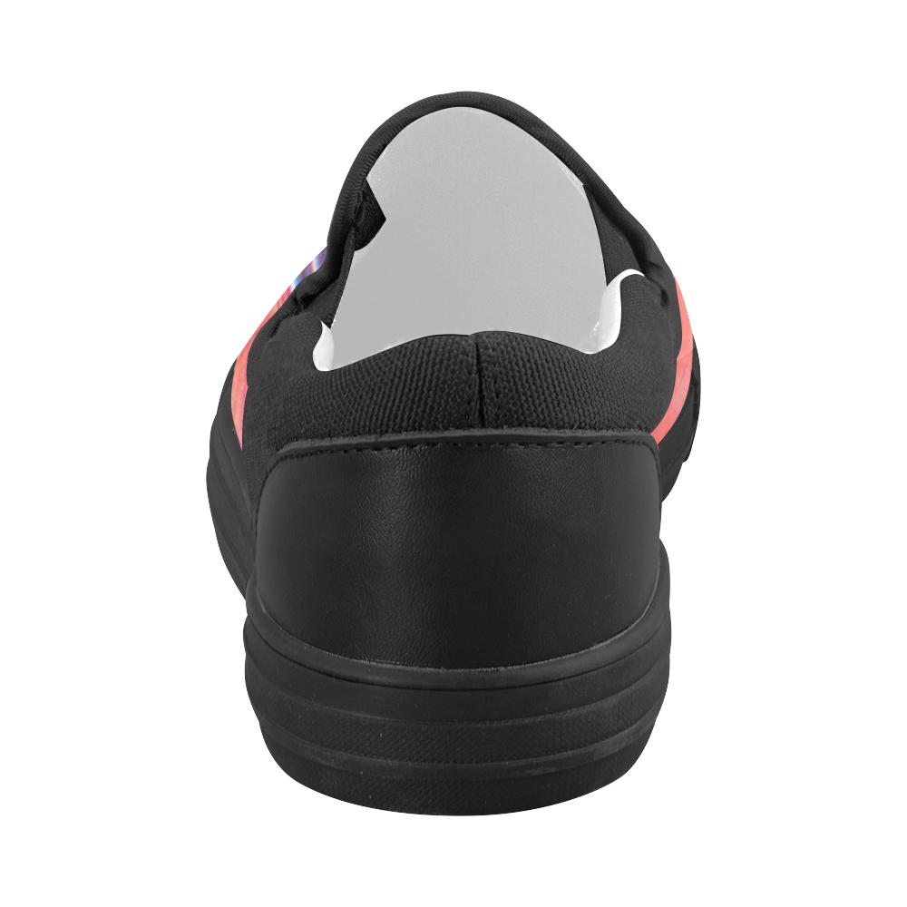 oil_b Women's Slip-on Canvas Shoes (Model 019)