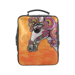 Carousel Horse Square Backpack Square Backpack (Model 1618)