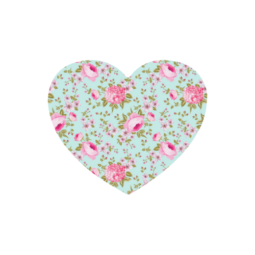 Peony Pattern Heart-shaped Mousepad