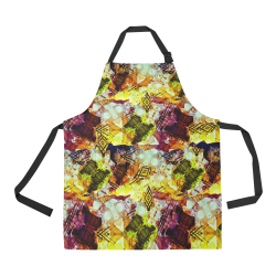 Graffiti Style - Markings on Watercolors All Over Print Apron