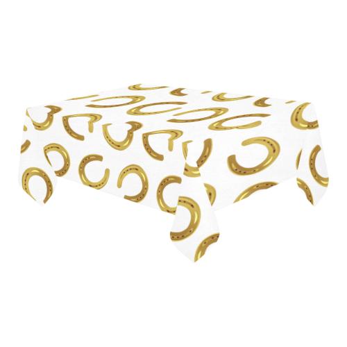 "Golden horseshoe Cotton Linen Tablecloth 60"" x 90"""