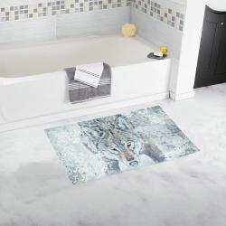 Snow Wolf Bath Rug 16''x 28''
