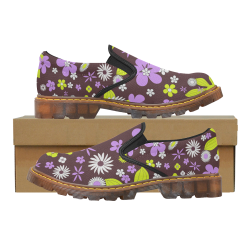 FLORAL DESIGN 4 Martin Women's Slip-On Loafer (Model 12031)