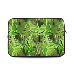 Tropical Jungle Leaves Camouflage Custom Sleeve for Laptop 17""