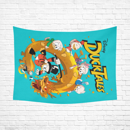 """DuckTales Cotton Linen Wall Tapestry 80""""x 60"""""""